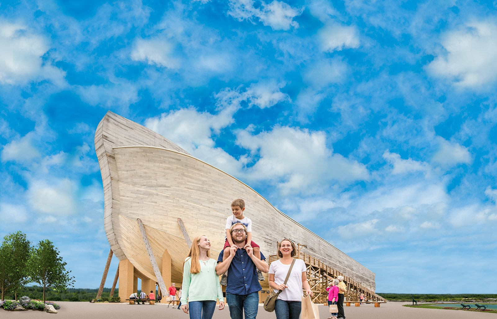 The Ark museum outside