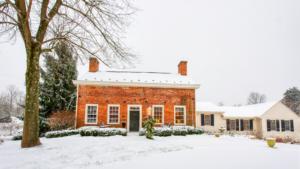 winter front of inn