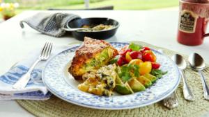 healthy vegetarian breakfast frittata at the inn